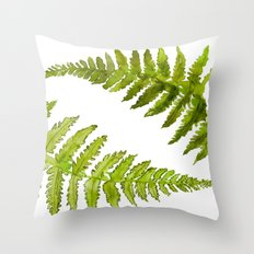 Etched Into Nature No.1 Forest Ferns Throw Pillow