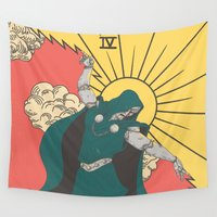 doom Wall Tapestries featuring DOOM by andbloom