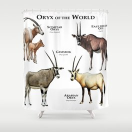 Oryx of the World Shower Curtain