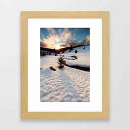 Winter story Framed Art Print