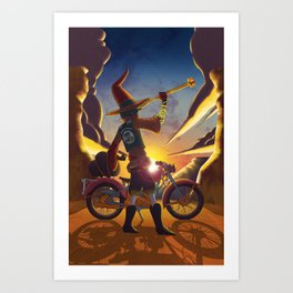 Wilco the Wizard Art Print