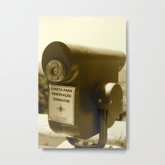 Spyglass to land observation Metal Print