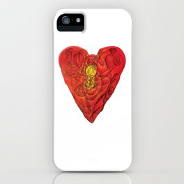 Heart Lock Abstract NeoNeoCubism iPhone Case