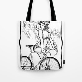"""Bicycle Race""  Tote Bag"