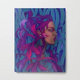 Amaryllis, Spirit of Flower, Fantasy Art Surreal Woman Portrait Metal Print