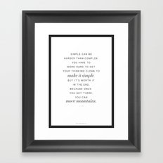 Jobs Framed Art Print