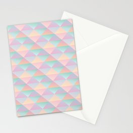 Pastel Pyramids Stationery Cards