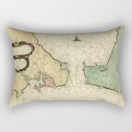 Strait Of Gibraltar 1644 Rectangular Pillow