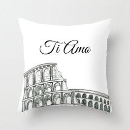 Roman Colosseum Print Throw Pillow