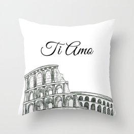 Roman Colosseum Print Throw Pillow