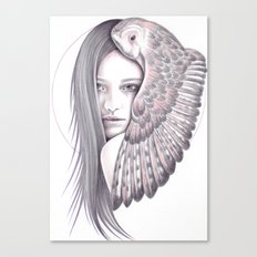 Alone With The Owl Canvas Print