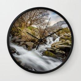 Trfan Mountain Rapids Wall Clock