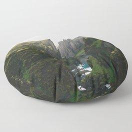 Iceland Green Nature Floor Pillow