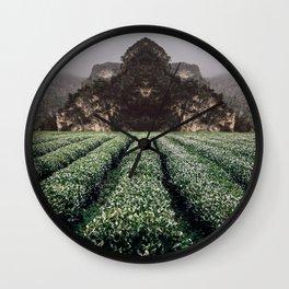 Unknown Fields of a Strange Land Wall Clock