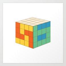 Rubik's S6 Tee Art Print
