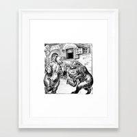 bears Framed Art Prints featuring Bears by Natalie Berman