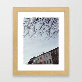 Pastel Homes Framed Art Print
