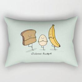 Balanced breakfast Rectangular Pillow