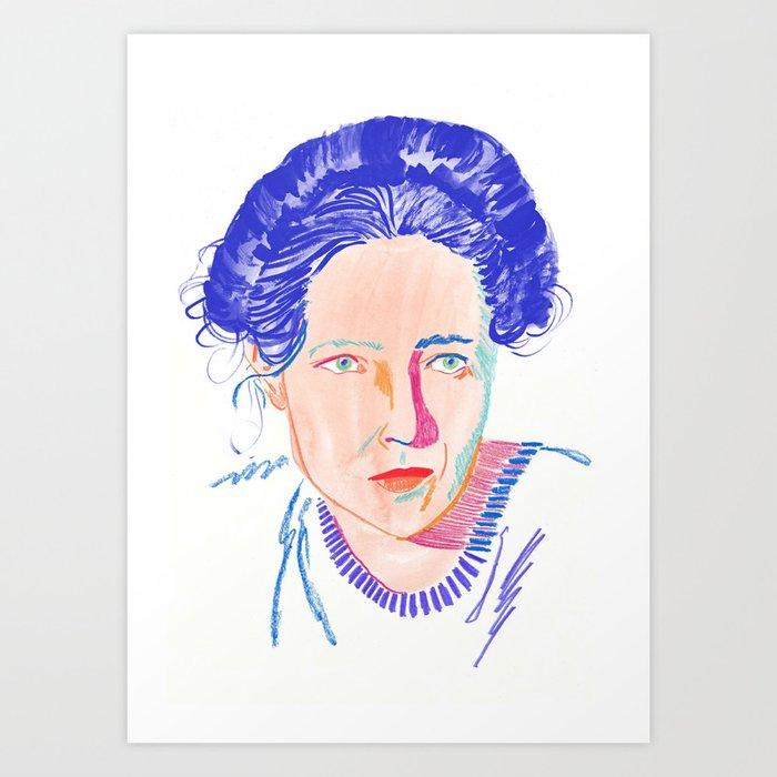 De Beauvoir Art Print