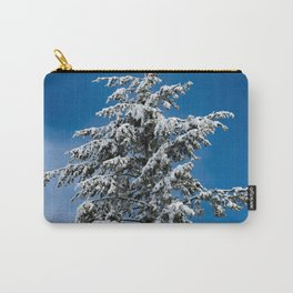 Winter Forest Fir Tree Snow IX - Nature Photography Carry-All Pouch