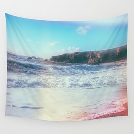 California Sunshine Waves Wall Tapestry