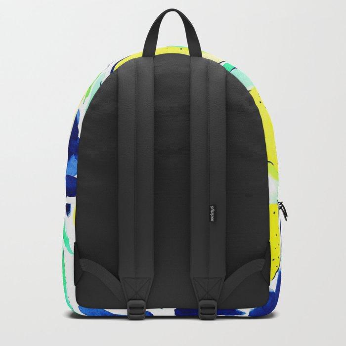 Bold Lemons Blue Backpack