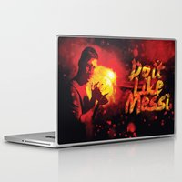messi Laptop & iPad Skins featuring Do it like messi by Axel Savvides