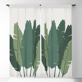 Cat and Plant 18 Blackout Curtain