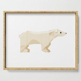 Origami Polar Bear Serving Tray