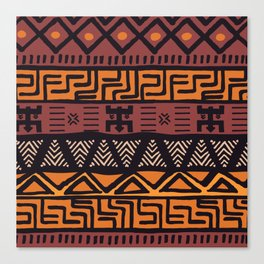 Tribal ethnic geometric pattern 021 Canvas Print
