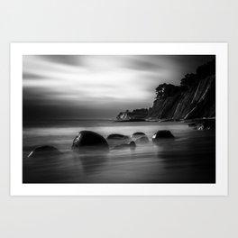 Just Another Beach Bowling Ball Beach hig tide Art Print