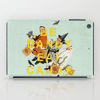 eat iPad Cases featuring Be Dandy Eat Candy by Heather Landis