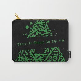 There Is Magic In The Air - Green and Black Triangle Carry-All Pouch