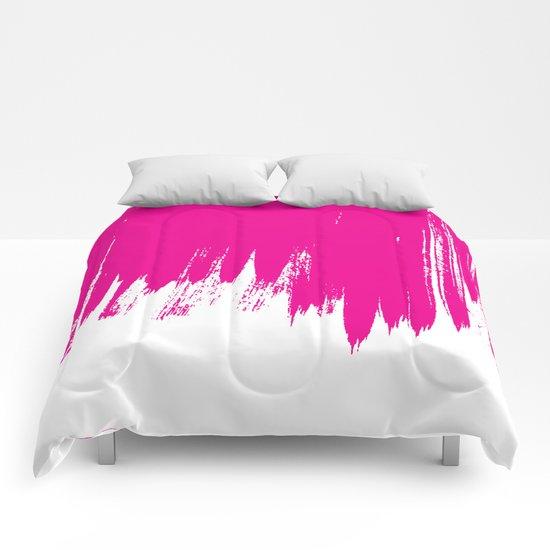 HIGH CONTRAST MAGENTA Comforters