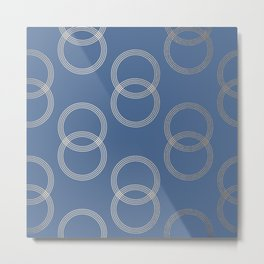 Simply Infinity Link in White Gold Sands on Aegean Blue Metal Print