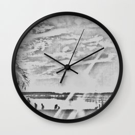 Happy Place Sketched Wall Clock