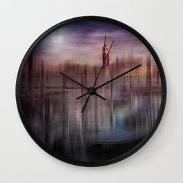 City-Art VENICE Gondolas at Sunset Wall Clock