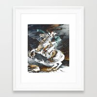 napoleon Framed Art Prints featuring Napoleon by FakeFred
