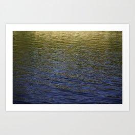 Colorful water at Lock 23 Art Print
