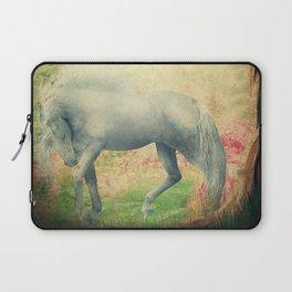 horse in a dreamy garden Laptop Sleeve