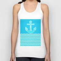 anchor Tank Tops featuring Anchor by haroulita
