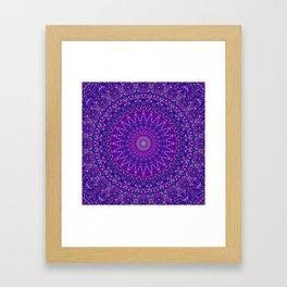 Lace Mandala in Purple and Blue Framed Art Print