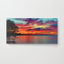 Sunset on Lake St. Clair in Belle River, Ontario, Canada Metal Print