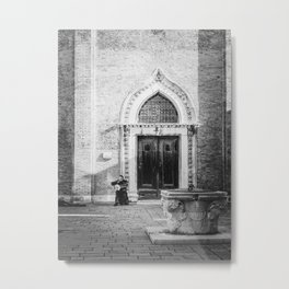 Street musician in Venice Italy Metal Print