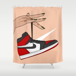 Bred Toe 1s Shower Curtain