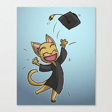 Graduate Cat Canvas Print