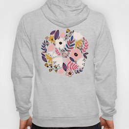 Fantasy flowers on blue Hoody