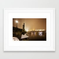 prague Framed Art Prints featuring Prague 6 by Veronika