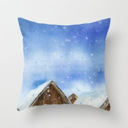 Day Before Christmas Throw Pillow