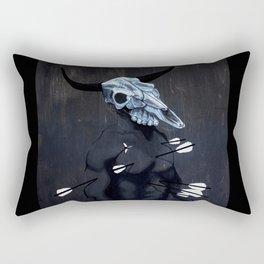 Bull with Arrows Rectangular Pillow